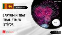 Sri Lanka, Baryum nitrat ithal edecek