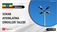 Etiyopya, Sokak aydınlatma direkleri satın alacak