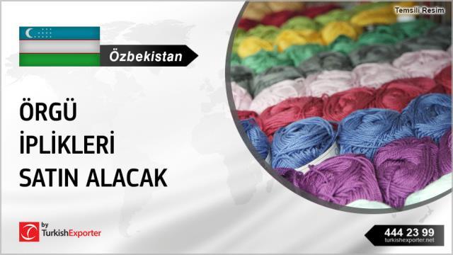 Özbekistan, Örgü iplikleri satın alacak