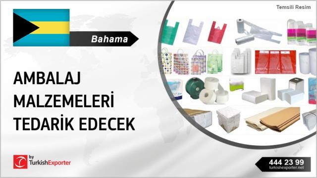 Bahama Adaları, Kağıt ve plastik ambalaj malzemeleri  tedarik edecek