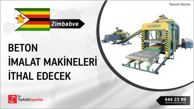 Zimbabve, Beton imalat makineleri ithal edecek