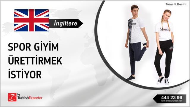 İngiltere, Spor giyim ürettirmek istiyor