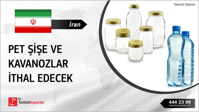 İran, PET şişe ve kavanozlar ithal edecek