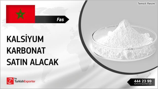 Fas, Kalsiyum karbonat satın alacak