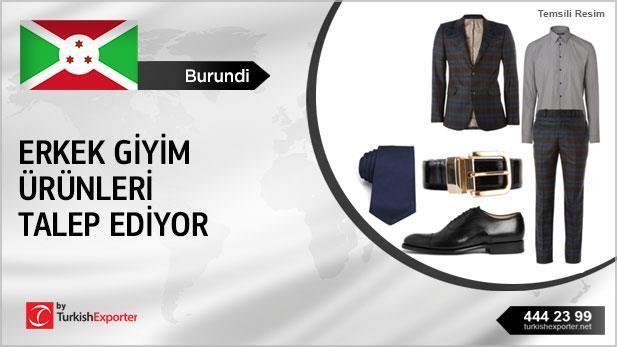 Burundi erkek giyim ürünleri talep ediyor
