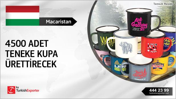 Macaristan, 4500 ad teneke kupa ürettirecek