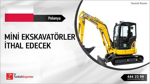 Polonya, Mini ekskavatörler ithal edecek