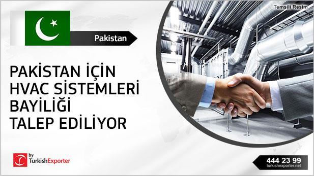Pakistan için HVAC sistemleri bayiliği talep ediliyor